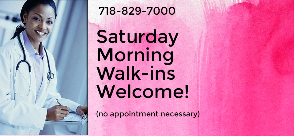 Saturday Morning Walk-ins Welcome